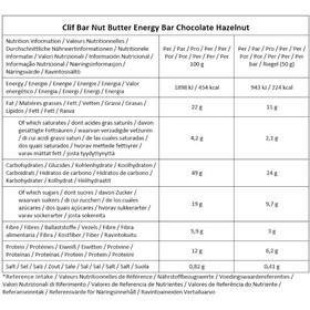 CLIF Bar Nut Butter Energy Bar Box 12 x 50g, Chocolate Hazelnut